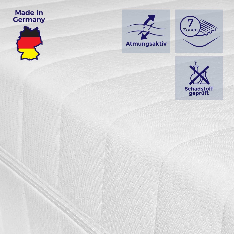 Mister Sandman atmungsaktive 7-Zonen-Kaltschaummatratze für erholsamen Schlaf – Matratze mit hochwertigem Doppeltuchbezug, Hrtegrad H2&H3, Hhe 15cm, (100 x 200 cm, H2&h3)