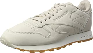 Reebok Classics Mens Leather SG Trainers Sneakers in Sand Stone/Chalk-Gum