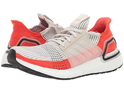 adidas Running Ultraboost 19 (Raw White/Footwear White/Active Orange) Men