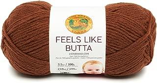 Lion Brand Yarn 215-126 Feels Like Butta Yarn, Brown