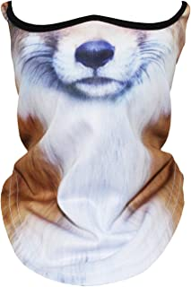 3D Animal Neck Gaiter Warmer Windproof Face Mask for Ski Halloween Party