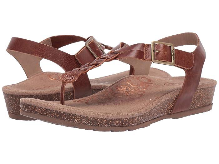 Aetrex  Harper (Cognac) Womens Sandals