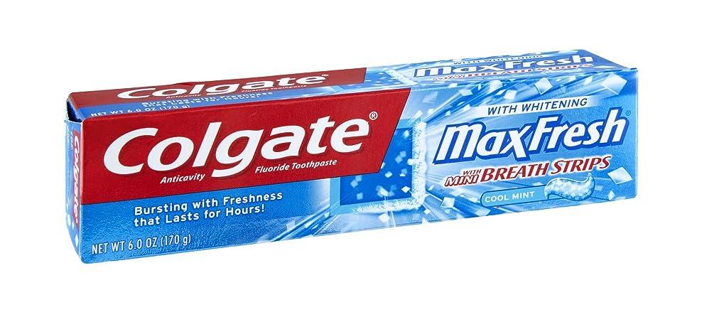 前任者怪物プレーヤーColgate Max Fresh Toothpaste with Mini Breath Strips, 6 Ounces (Pack of 6) by Colgate