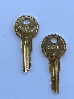 Crown Fork Lift Keys Key # C250 17015 2-Keys SafeCo Brands