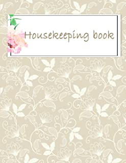 housekeeping book: Household Planner, Daily Routine Planner, Cleaning and Organizing Your House Large Size 8.5