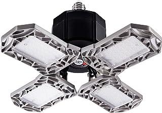Kitlit LED luz de Garaje luz de Techo deformable 100W E27 10000LM, con 4 Luces de Garaje de Panel de Metal Ajustables, se Puede Utilizar almacén, Taller, sótano, luz de Techo de Seguridad de Gimnasio