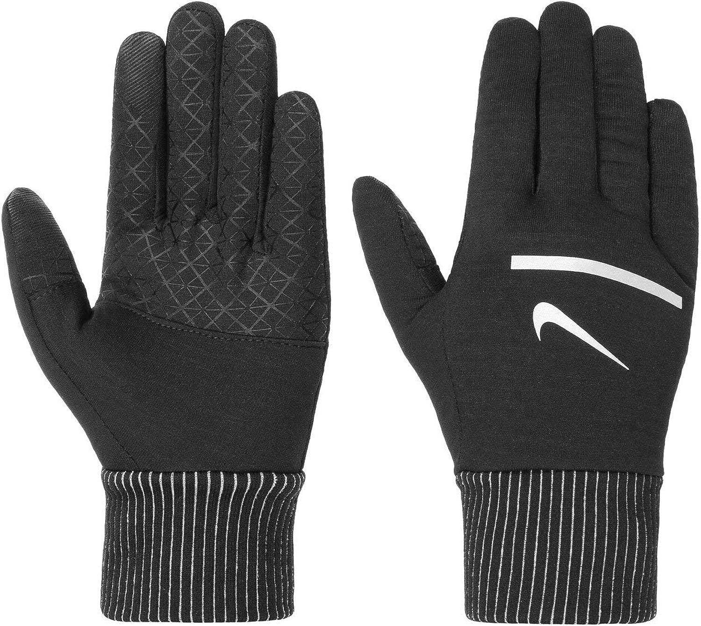 (X-Large, 黒/銀) - NIKE Men's Sphere Running Gloves