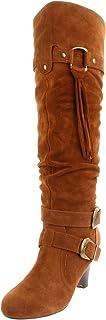 Naughty Monkey Women's Rockin Robin Knee-High Boot,Tan,8.5 M US