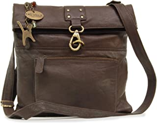 Catwalk Collection Handbags - Ladies Leather Cross Body Bag - Adjustable Shoulder Strap - DISPATCH