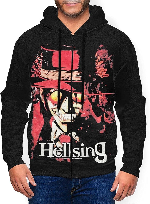 Hellsing Men'S Hooded Zipper Shirt Classic Jacket Portland Mall Fresno Mall Coat Casual