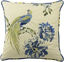 WAVERLY Floral Engagement Decorative Pillow, 18 x 18, Porcelain