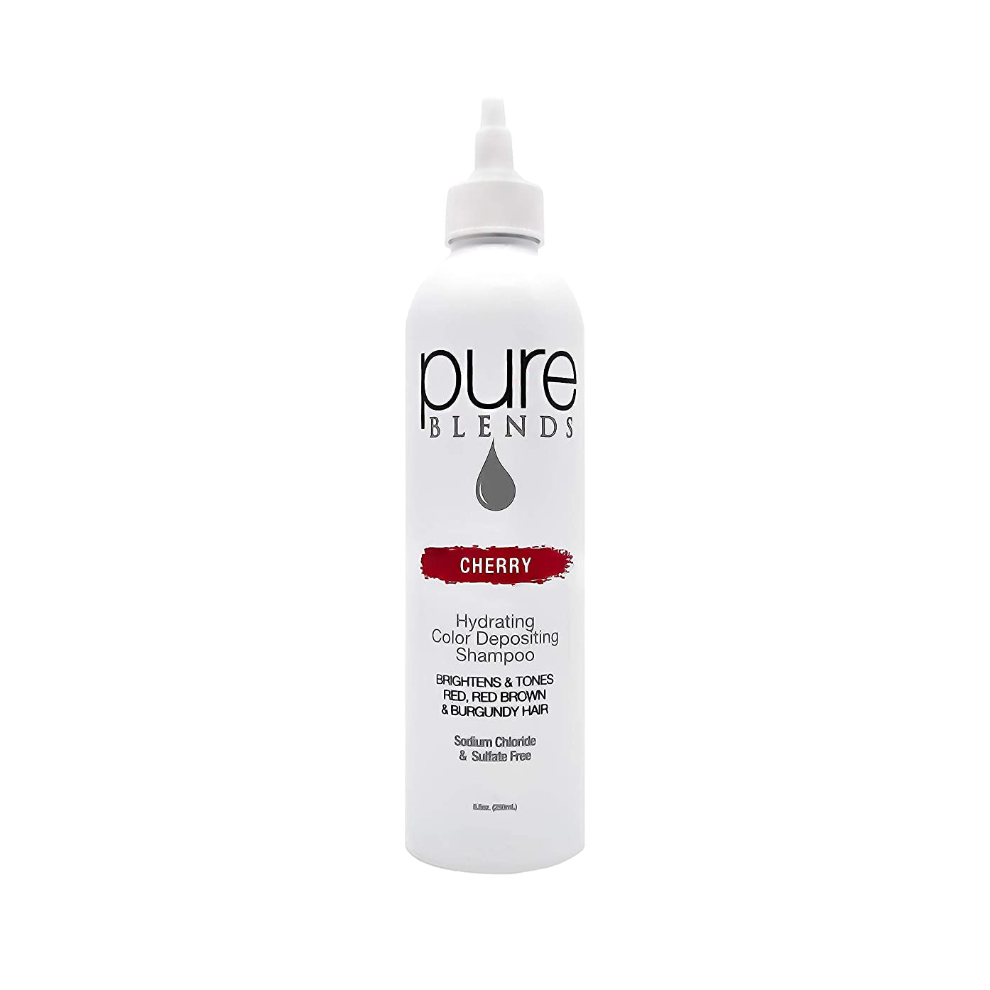 Pure Blends Hydrating Color Depositing Shampoo, 8.5 oz, Cherry (Red, Red-Brown, Burgundy Tones)