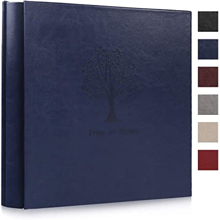 Amazon Com Recutms Photo Album 4x6 600 Pictures 5 Per Page Tree Pattern Plain Pu Leather Albums Wedding Souvenir Albums Baby Growth Memo Book Holds 600 Horizontal And Vertical Photos Blue Home Kitchen