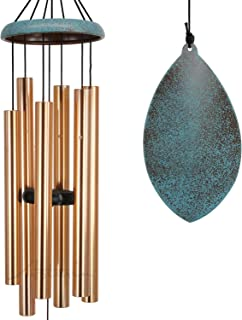 Wind Chimes Outdoor Deep Tone,35'' Memorial WindChimes Amazing Grace with Tuned Soothing Tone,Remembrance Windchime Unique...