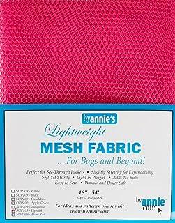 "Annie PBA02032 Mesh Fabric Lightweight 18""x 54"" Lipstick, 18"" by 54"""