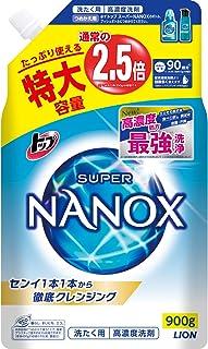 【大容量】トップ スーパーナノックス 蛍光剤・シリコーン無添加 高濃度 洗濯洗剤 液体 詰め替え 特大900g