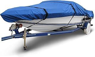 غطاء قارب بمركز الريبستوب B-1630-X4 من بادج، أزرق بطول 40.64-45.72 سم (عرض الحزمة حتى 269.24 سم) مقاوم للماء وشديد التحمل ...