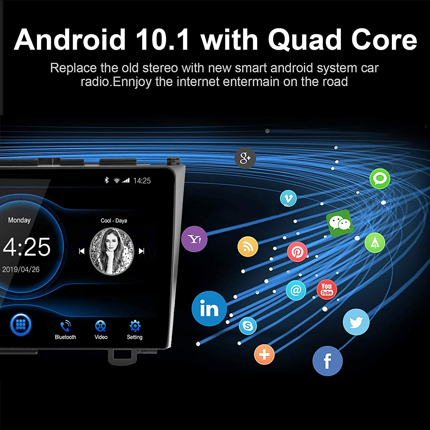 Build-in Bluetooth USB Player 2G DDR3+16G GPS Navigation for Honda CR-V 2007 2008 2009 2010 2011 9 inch Capacitive Touch Screen High Definition Head Unit LEXXSON Android 10.1 Car Radio Stereo