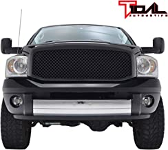 Tidal Ram Replacement Upper Grille Mesh ABS Grill for 06-08 Dodge Ram 1500/06-09 Ram 2500/3500