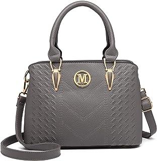 حقيبة يد للسيدات من Miss Lulu ، حقيبة يد كبيرة تحمل على الكتف من جلد Pu بمقبض علوي