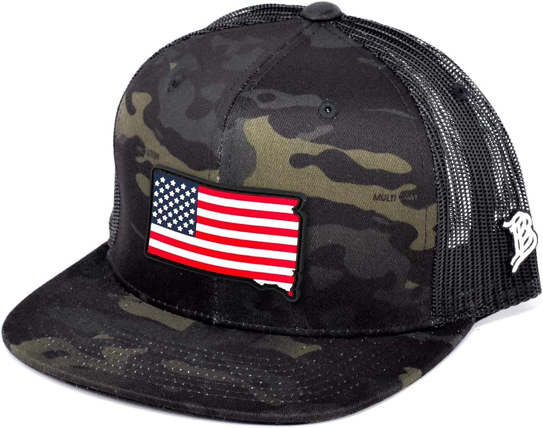 Some reservation Branded Bills South Dakota Rogue Patriot PVC Patch Hat Flat Truc price
