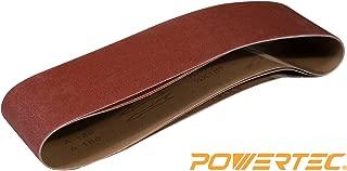 POWERTEC 110143 4 x 36 Inch Sanding Belts | 150 Grit Aluminum Oxide Sanding Belt | Premium Sandpaper – 3 Pack