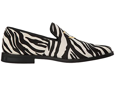 PonyBurgundy Sperry Leather Black PonyZebra Overlook Smoking Slipper x8XrBA8q