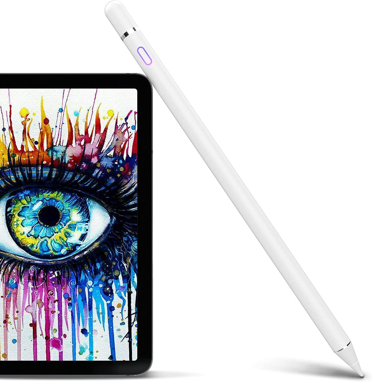Stylus Pen Compatible with iPad, Pencil Styluses Compatible with iPad 2/3/4/5/6/7/8 Generation Pro 9.7/10.5/11/12.9 Air 1/2/3/4 Mini 1/2/3/4/5 Alternative Drawing Smart Stylist for Touch Screens