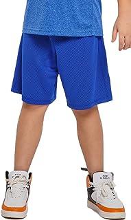 M.D.K Boys Breathable Double Knit Mesh Athletic Exercise Short Shorts