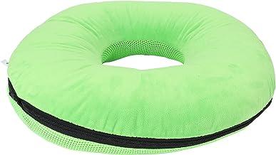 Almofada anti-escaras, almofada para hemorróidas cóccix verde em formato de rosquinha para uso diário