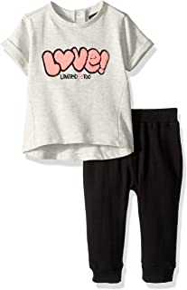 Limited Too Baby Girls French Terry Printed Love T-Shirt and Jogger