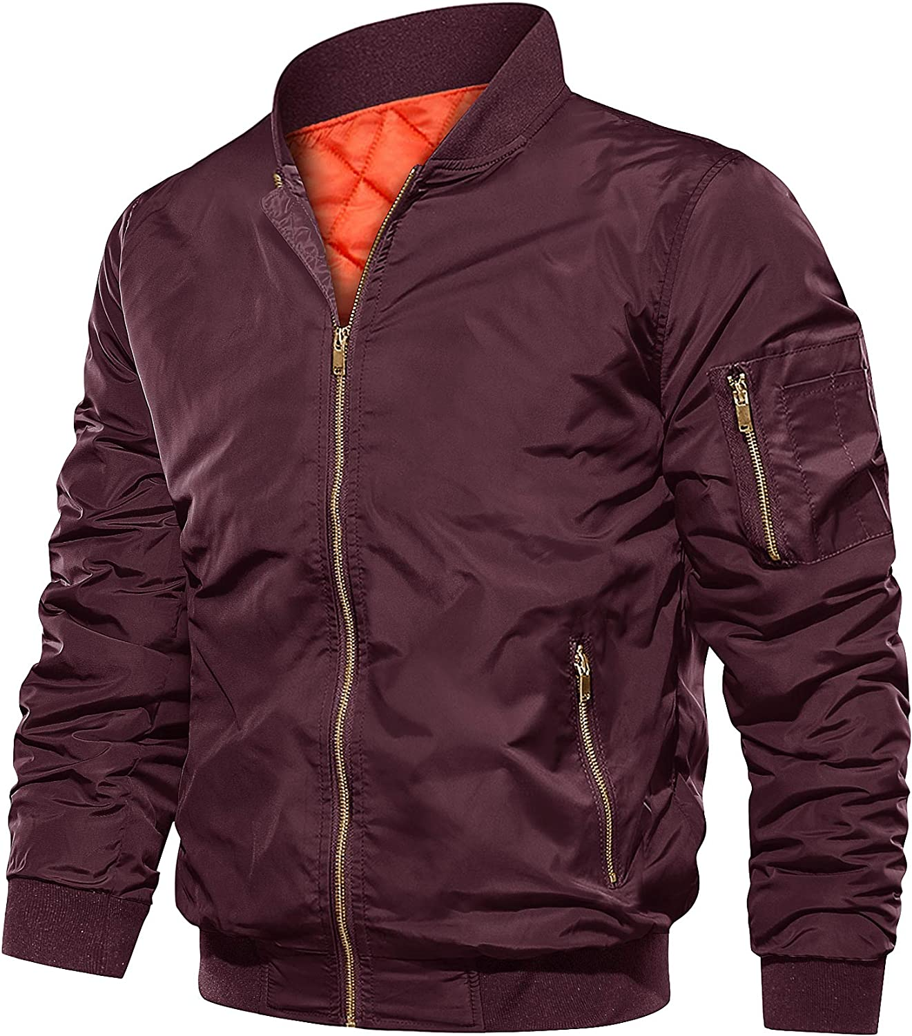Mens Store Bomber Jacket Fall Winter Lightweight up Padded Puffer Super popular specialty store Warm