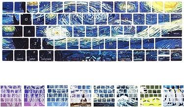 YMIX MacBook Keyboard Cover - Washable Silicone Keyboard Cover for MacBook Pro 13 (A1706) & Pro 15 (A1707) with Touch Bar - Van Gogh Starry Night