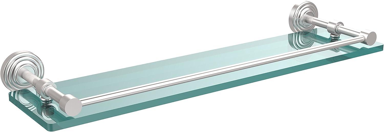Allied Brass WP-1 22-GAL-SCH Single Shelf, 22-Inch, Satin Chrome