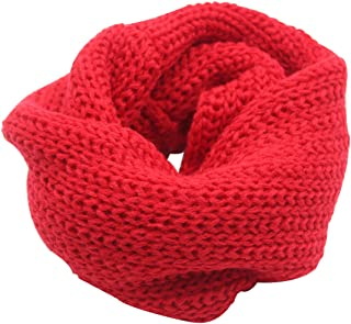 Baby Kids Knitted Infinity Scarf Warm Soft Circle Loop Scarf Neckerchief for Boys Girls