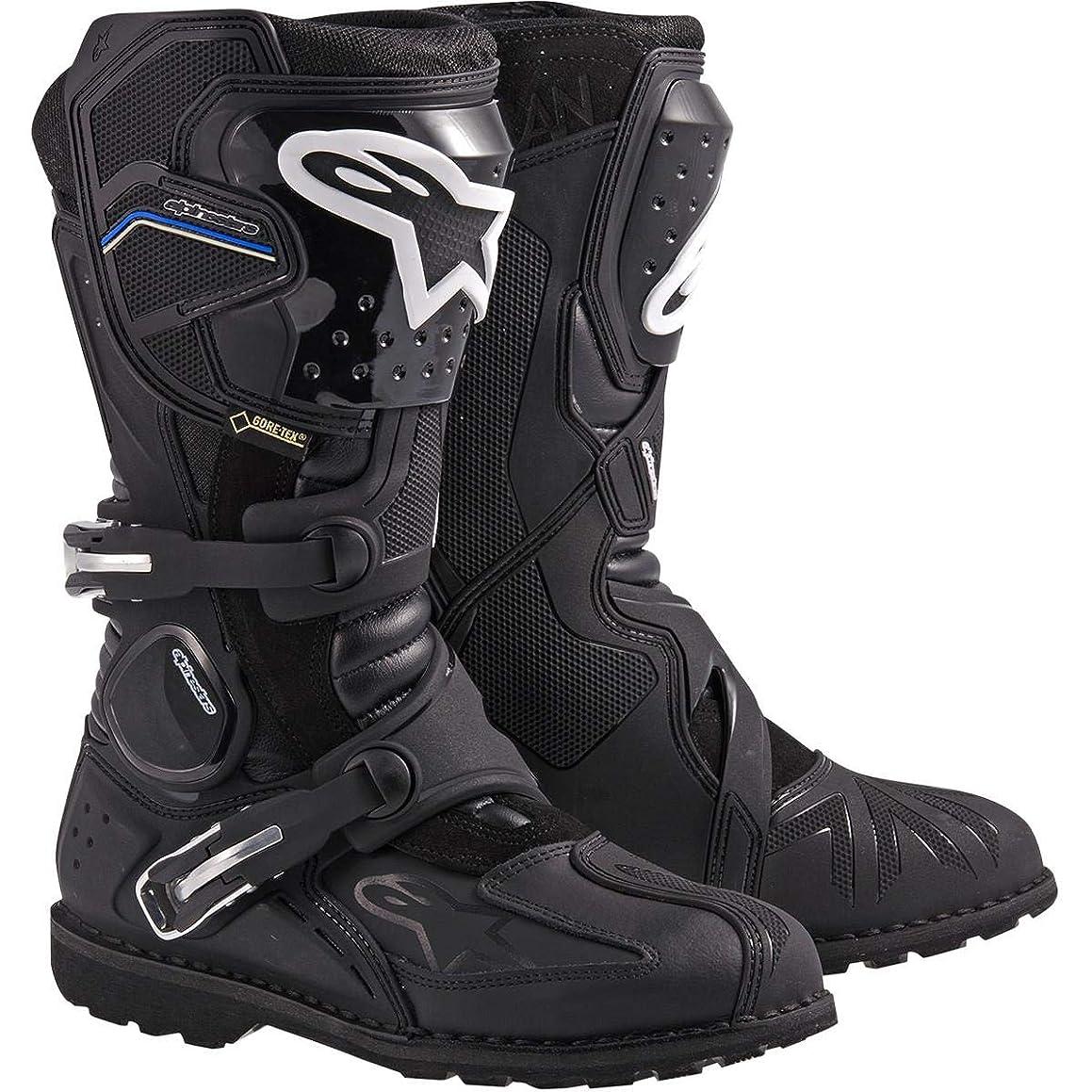Alpinestars Toucan Gore-Tex Men's Weatherproof Motorcycle Touring Boots (Black, US Size 11)