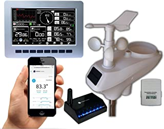 Ambient Weather WS-1201-IP Observer Solar Powered Wireless Internet Remote Monitoring Weather Station with Solar Radiation and UV, Compatible with Alexa