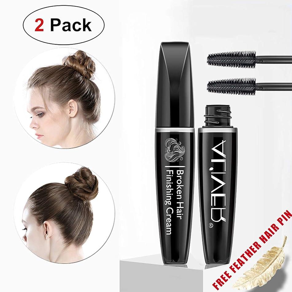 Hairfeel Finishing Stick (2 Pack x 15 ml), Small Fly Away Hair Tamer Wax, Broken Hair Finishing Cream, Glam hair Styling Gel, Refreshing Shaping Hair Mascara for Women and Kids