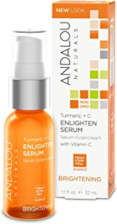 Andalou Naturals Turmeric + C Enlighten Face Serum, 1.1 Ounce