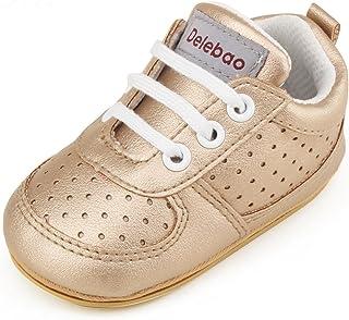 cf1b728943885 DELEBAO Chaussure Cuir Bébé Chaussures Premiers Pas Chaussure de Marche Bébé  Bottine Bébé Basket