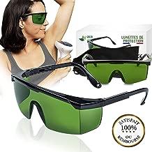 HEALLILY Masque Yeux Contre Rayons UV Masque Protection Yeux Lunettes de Protection Laser pour Luminoth/érapie IPL Noir