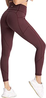 Women's High Waisted Workout Yoga Pants with Pockets Tummy Control Running Leggings 4 Way Stretch