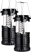 2 Pack Portable LED Camping Lantern Flashlights Survival Kit for Emergency, Hurricane, Outage