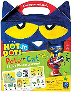 Educational Insights 2453 Hot Dots Jr. Pete the Cat I Love Kindergarten! Set with Pete the Cat Your Groovin, Schoolin Frie...