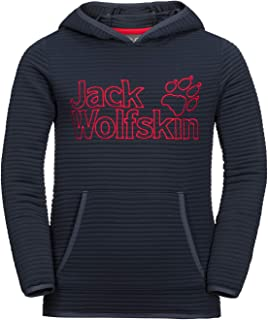 Jack Wolfskin Boy's Modesto Hoody Lightweight Fleece Sweater, Bluesign