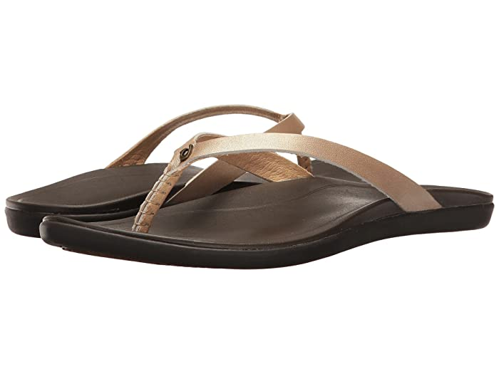 Ho'opio Leather  Shoes (Bubbly/Dark Java) Women's Sandals