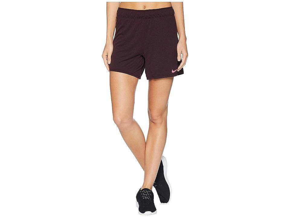 Nike Flex Attack Training Short (Burundy Crush/Heather/Rush Pink) Women