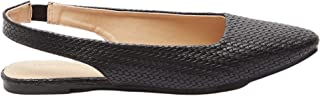 حذاء مزخرف سهل الارتداء بمقدمة مدببة وتفاصيل مطاطية للنساء من شو اكسبرس