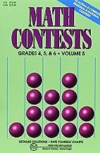 Math Contests, Grades 4, 5 & 6, Vol. 5