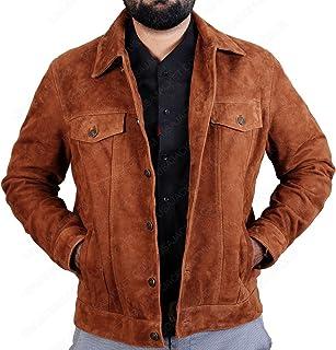 50d08347e1a Logan Hugh X-Men Jackman Wolverine 3 Brown Suede 2017 Real Leather Jacket  Coat